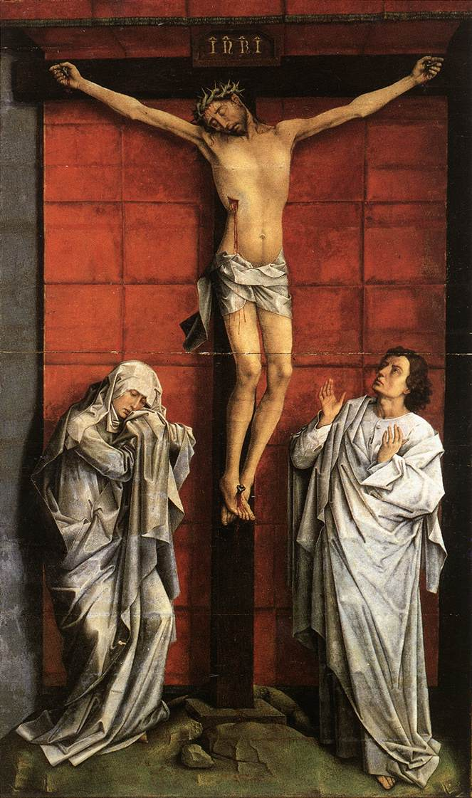 Christ on the Cross with Mary and John by VanDerWeyden