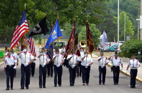 Veterans marching