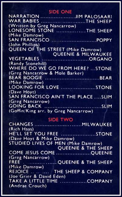 Lonesome Stone song list