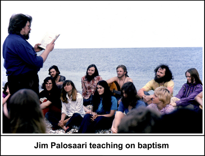 Jim Palosaari teaching at the beach