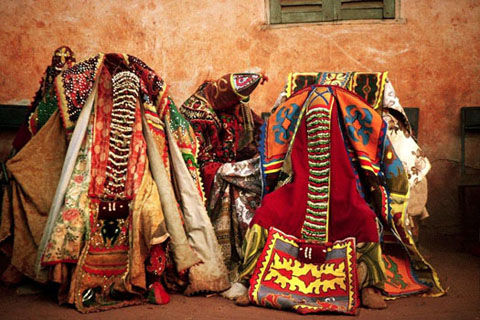 Egun mask festival of Togo and Benin