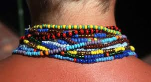 Santeria elekes: beaded necklaces