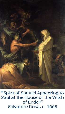Spirit of Samuel Appearing to Saul at the House of the Witch of Endor, Salvatore Rosa