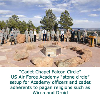 US Air Force Academy sets up stone circle for Wicca and Druid adherents
