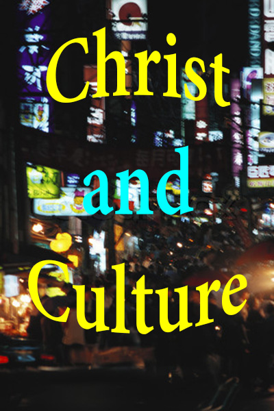 Christ and Culture against city street night